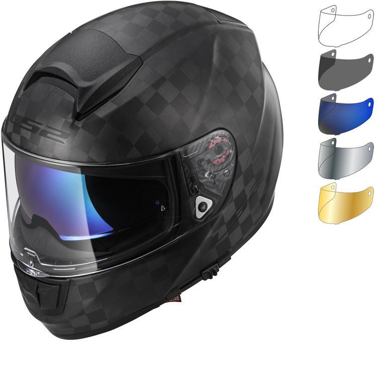 LS2 FF397 Vector C Solid Motorcycle Helmet & Visor