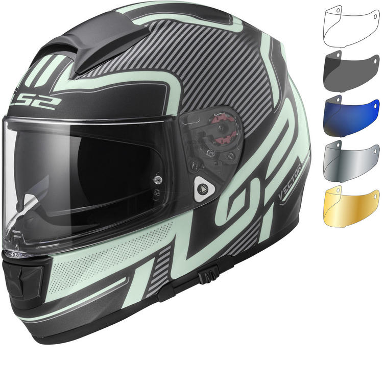LS2 FF397 Vector Orion Motorcycle Helmet & Visor