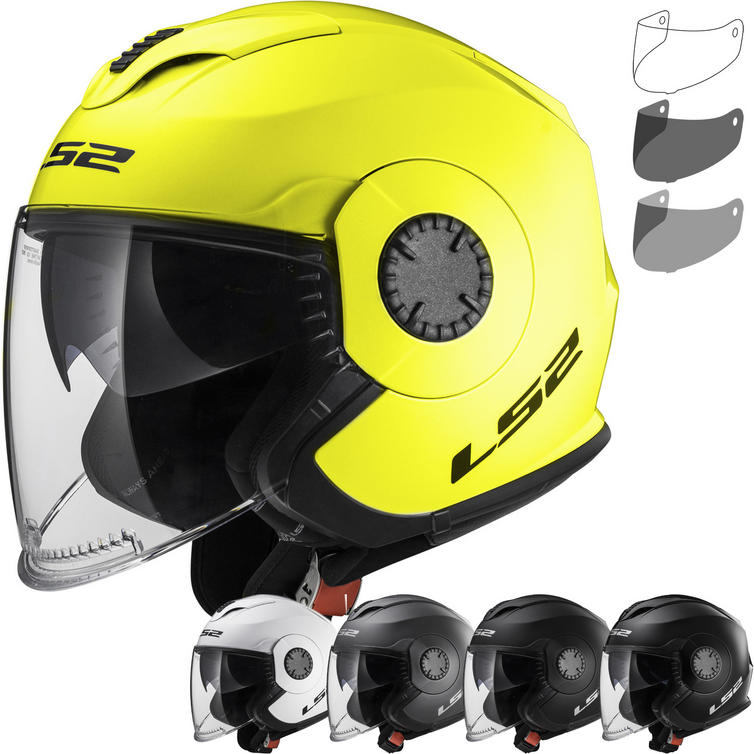 LS2 OF570 Verso Solid Open Face Motorcycle Helmet & Visor