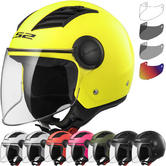LS2 OF562 Airflow L Solid Open Face Motorcycle Helmet & Visor