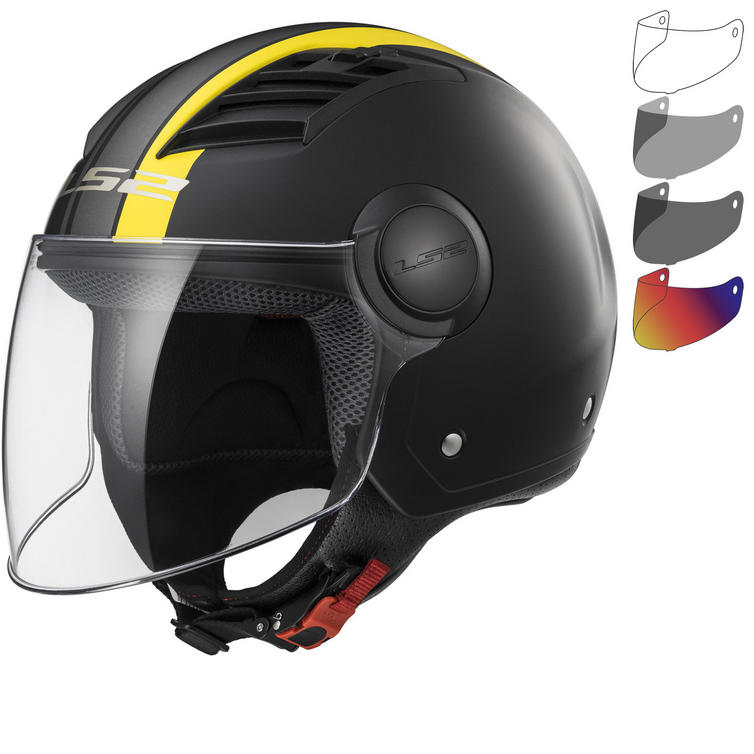 LS2 OF562 Airflow L Metropolis Open Face Motorcycle Helmet & Visor