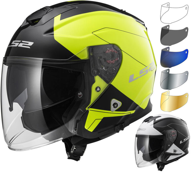 LS2 OF521 Infinity Beyond Open Face Motorcycle Helmet & Visor