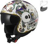 LS2 OF597 Cabrio Flaunt Open Face Motorcycle Helmet & Visor