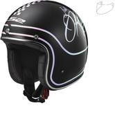 LS2 OF583 Bobber Rusty Open Face Motorcycle Helmet & Visor