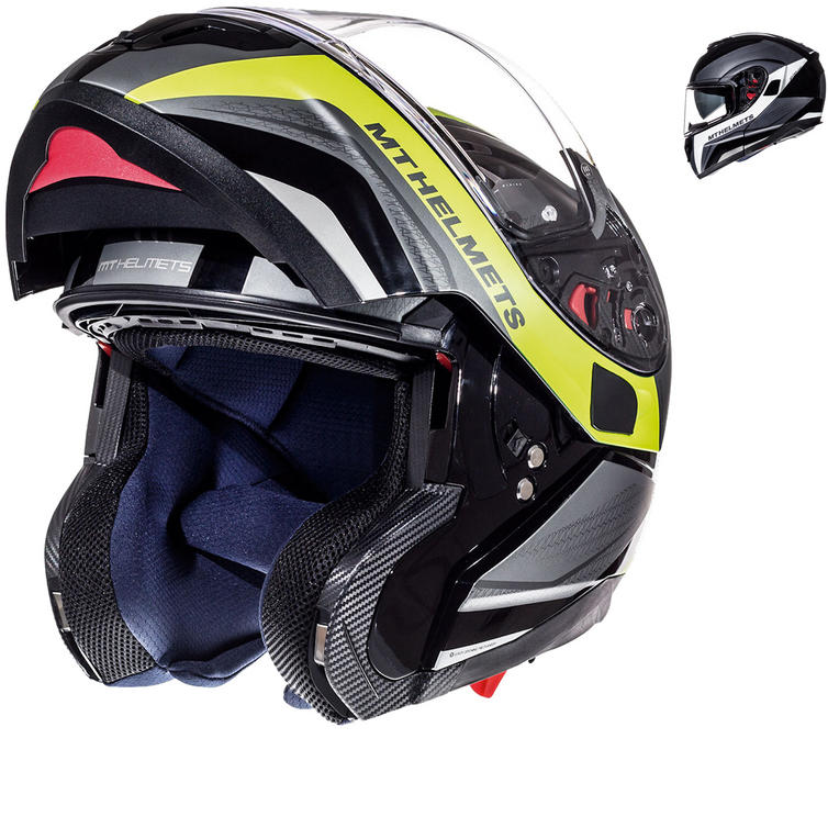 MT Atom SV Tarmac Flip Front Motorcycle Helmet