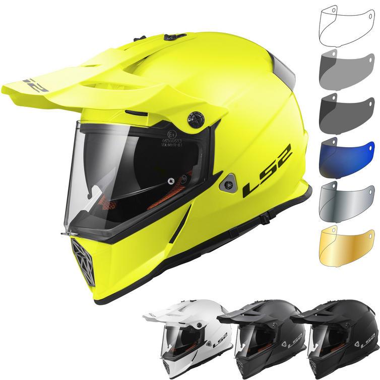 LS2 MX436 Pioneer Solid Dual Sport Helmet & Visor