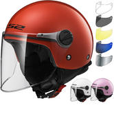 LS2 OF575J Wuby Solid Youth Open Face Motorcycle Helmet & Visor