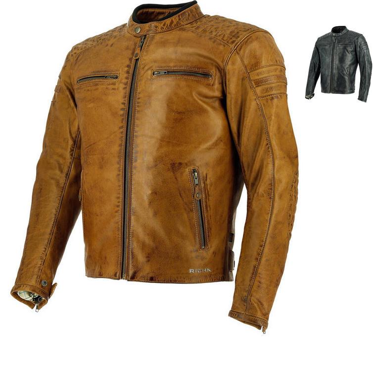 Richa Daytona 60s Leather Motorcycle Jacket