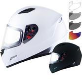 MT Mugello Solid Motorcycle Helmet & Visor