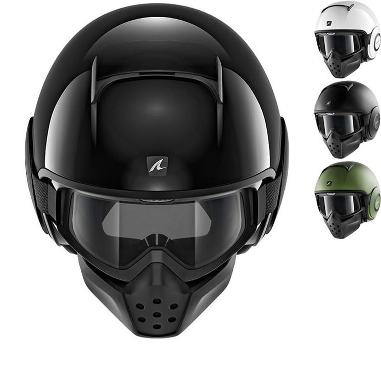 Shark Drak Blank Open Face Motorcycle Helmet
