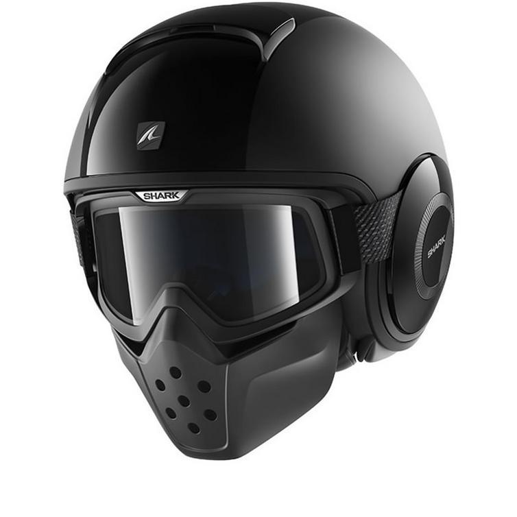 Shark Drak Dual Black Open Face Motorcycle Helmet