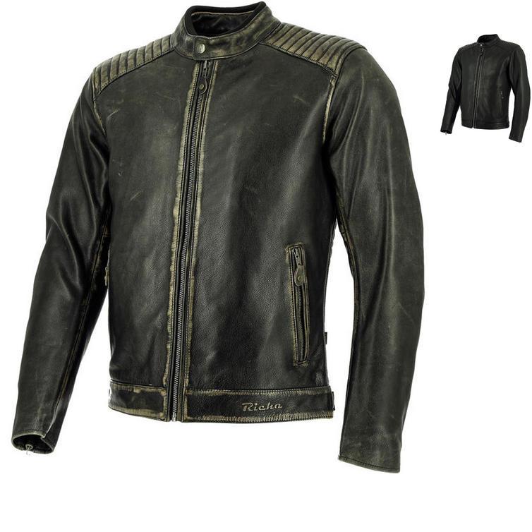 Richa Thruxton Leather Motorcycle Jacket