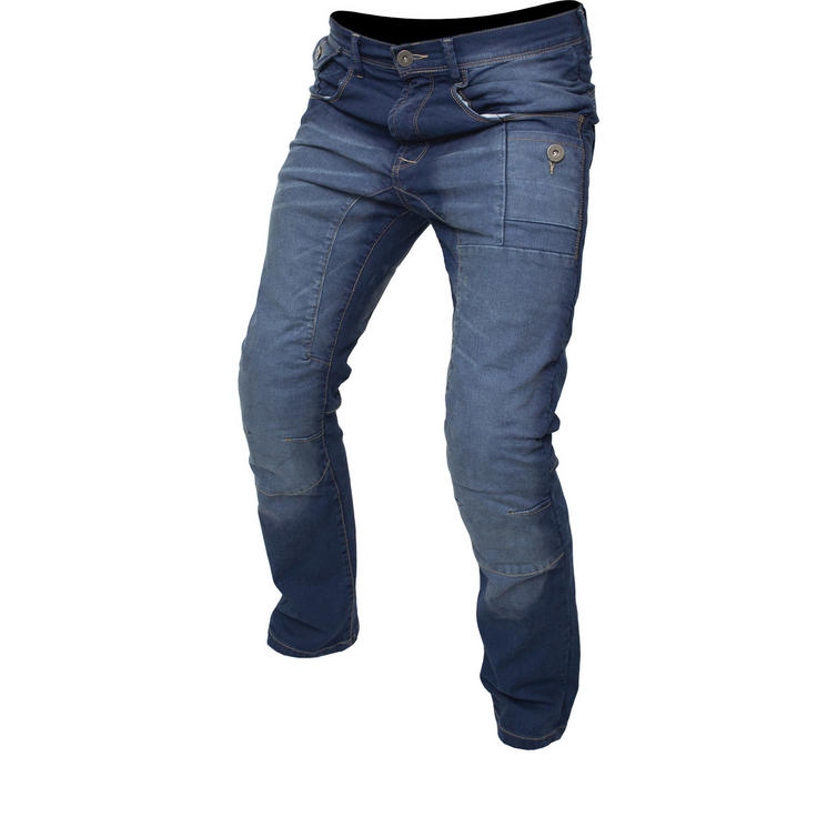 ARMR Moto M799 Tron Blue Motorcycle Jeans