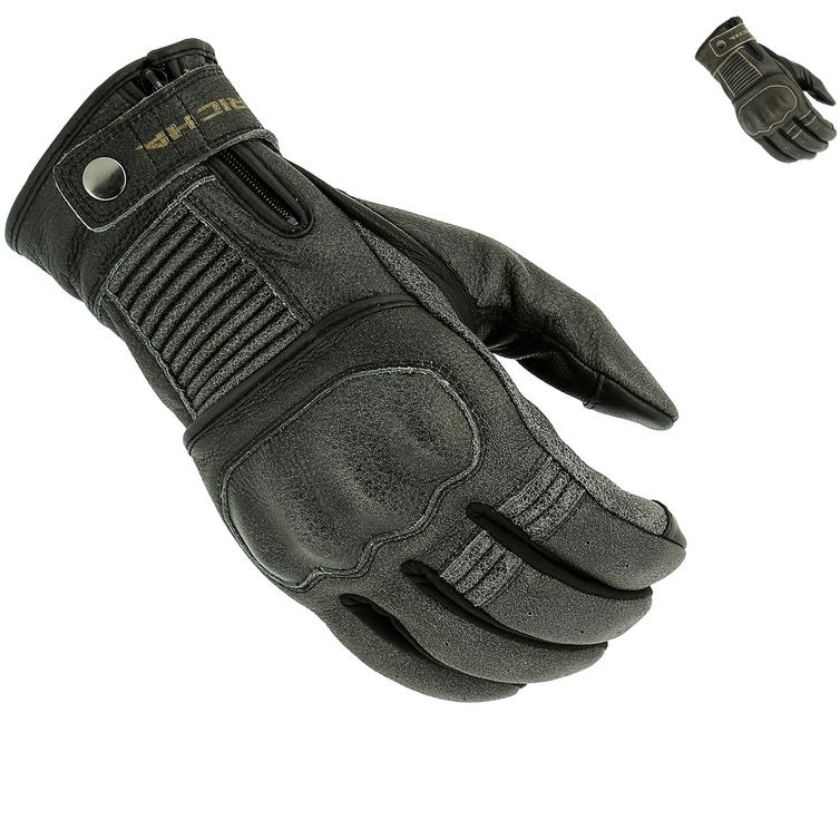 Richa Bobber Leather Motorcycle Gloves