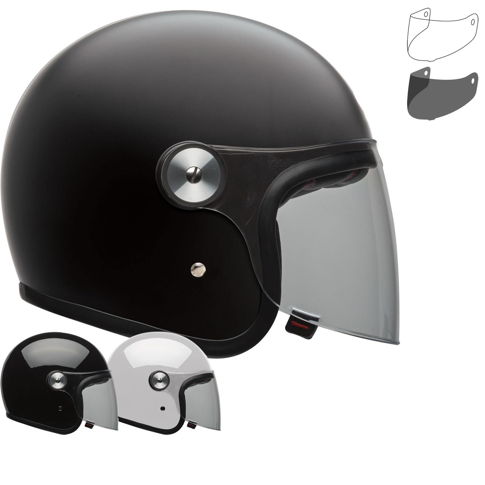 Bell Riot Solid Open Face Motorcycle Helmet Visor New Arrivals