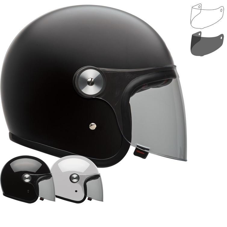 Bell Riot Solid Open Face Motorcycle Helmet & Visor