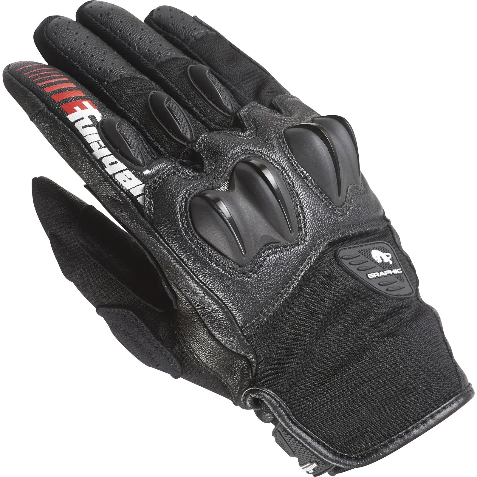 Furygan-Graphic-Evo-Motorcycle-Gloves-Short-Street-Sport-Motorbike-GhostBikes