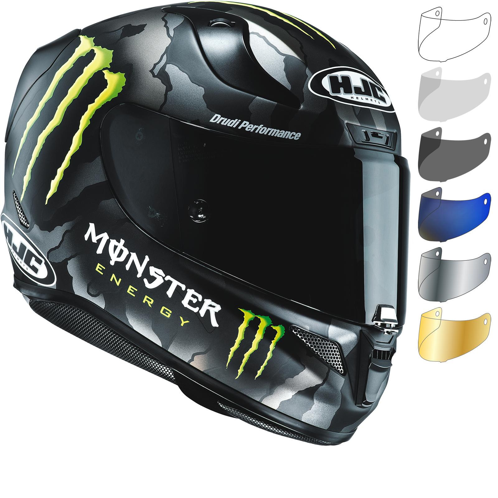 HJC RPHA 11 Monster Military Camo Limited Edition Motorcycle Helmet &  Visor. new