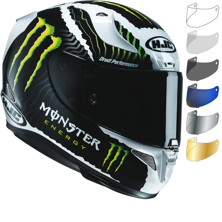 HJC RPHA 11 Monster Military White Sand Limited Edition Motorcycle Helmet & Visor