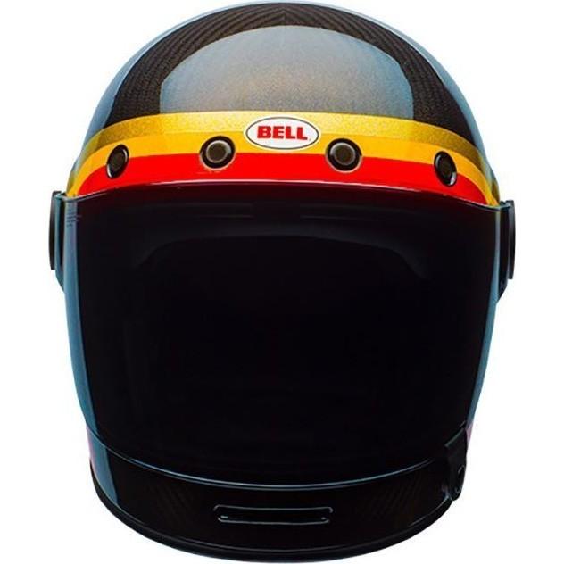 536934ae Bell Bullitt Carbon Chemical Candy Black Gold Motorbike Helmet Full ...