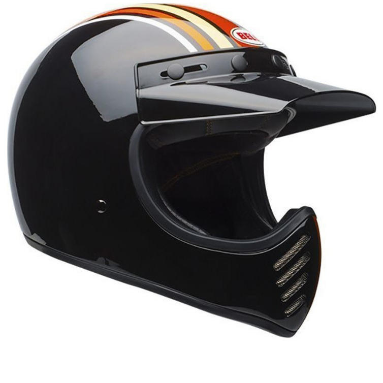 Bell Moto-3 Stripes Motorcycle Helmet