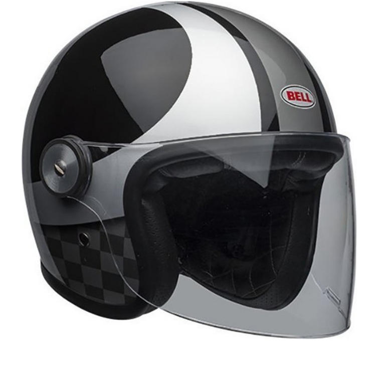 Bell Riot Checks Open Face Motorcycle Helmet