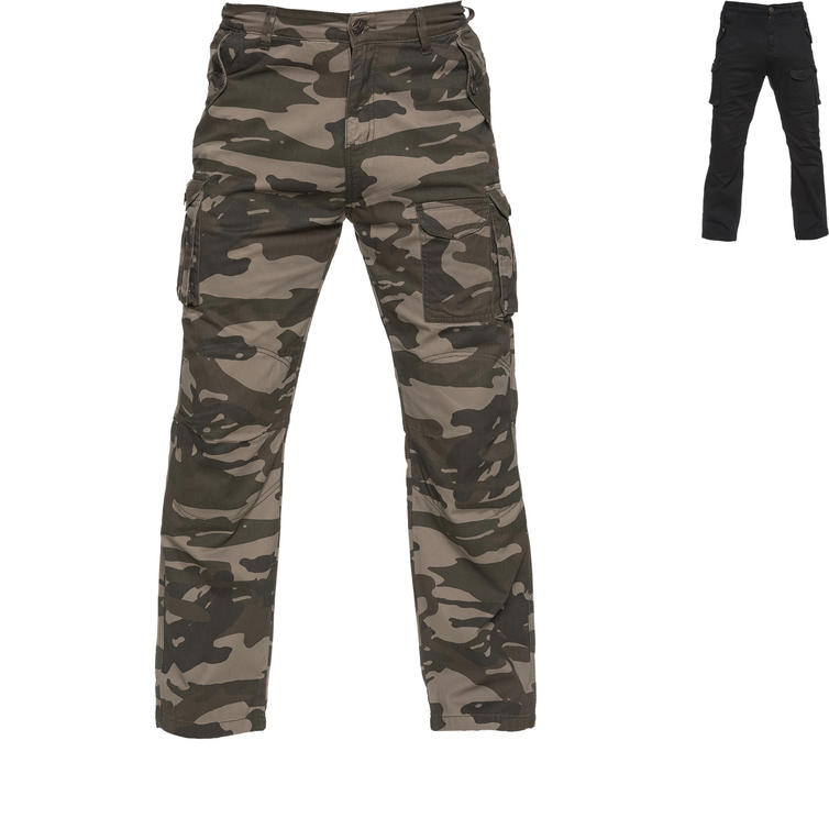 Black Command Motorcycle Cargo Jeans