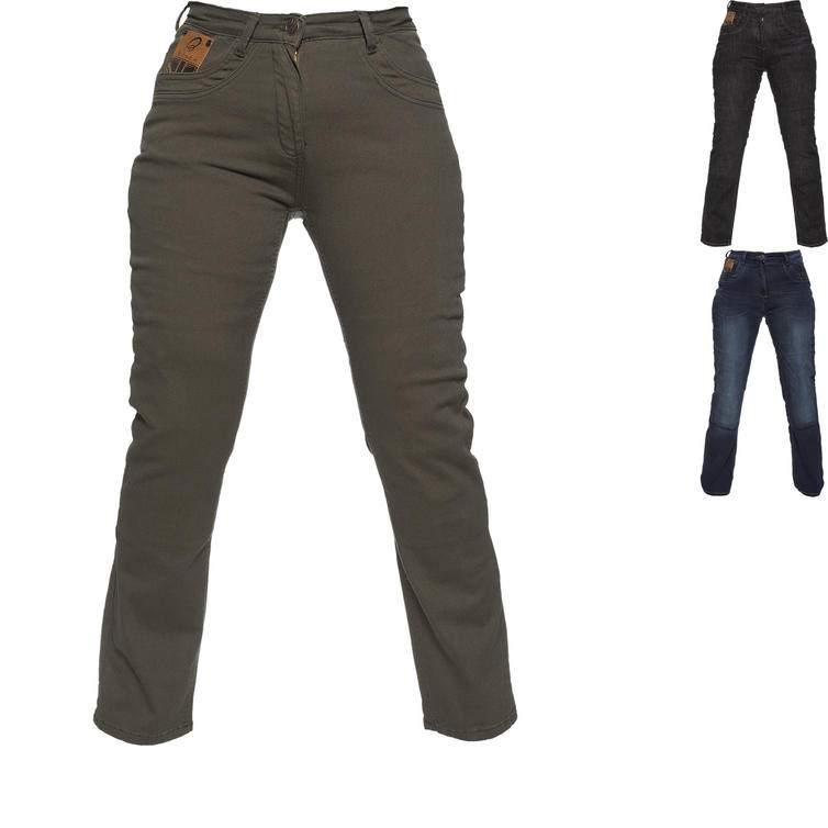 Black Salus Womens Motorcycle Jeans