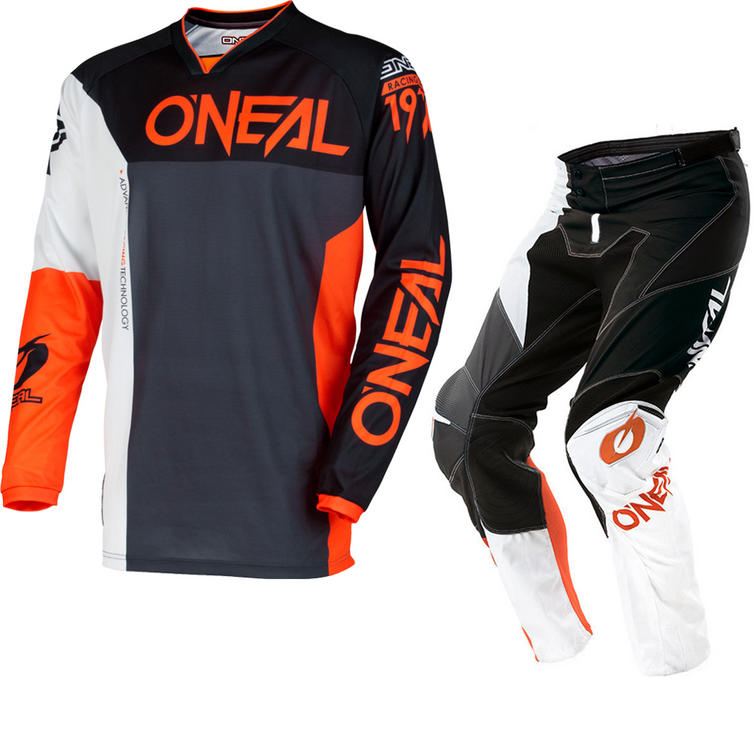Oneal Mayhem Lite 2018 Split Motocross Jersey & Pants Black Orange Kit
