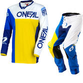 Oneal Mayhem Lite 2018 Split Motocross Jersey & Pants Blue Yellow Kit