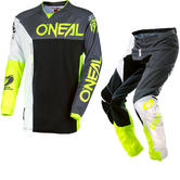 Oneal Mayhem Lite 2018 Split Motocross Jersey & Pants Gray Hi-Viz Kit