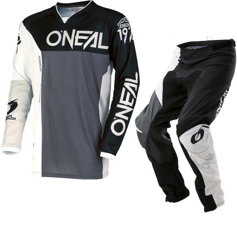 Oneal Mayhem Lite 2018 Split Motocross Jersey & Pants Black Gray Kit