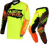 Oneal Element 2018 Burnout Motocross Jersey & Pants Black Hi-Viz Orange Kit