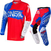 Oneal Element 2018 Burnout Motocross Jersey & Pants Red White Blue Kit