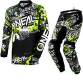 Oneal Element 2018 Attack Motocross Jersey & Pants Black Hi-Viz Kit