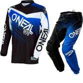 Oneal Element 2018 Racewear Motocross Jersey & Pants Black Blue Kit