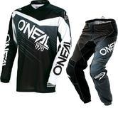 Oneal Element 2018 Racewear Motocross Jersey & Pants Black Gray Kit