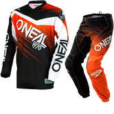 Oneal Element 2018 Racewear Motocross Jersey & Pants Black Orange Kit