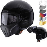 Caberg Ghost Carbon Open Face Motorcycle Helmet & Visor
