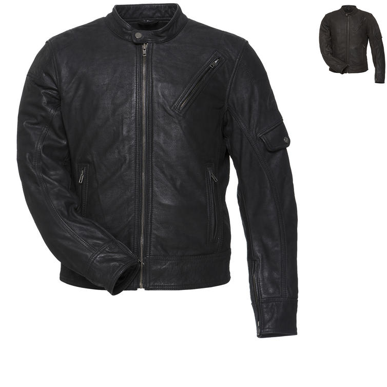 Black Erebus Leather Motorcycle Jacket