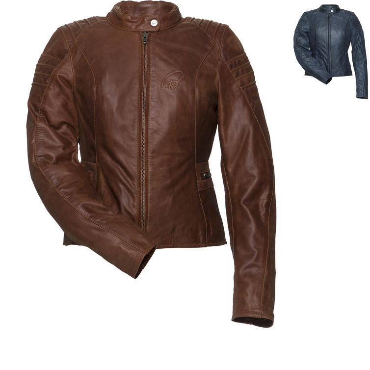 Black Artemis Ladies Leather Motorcycle Jacket