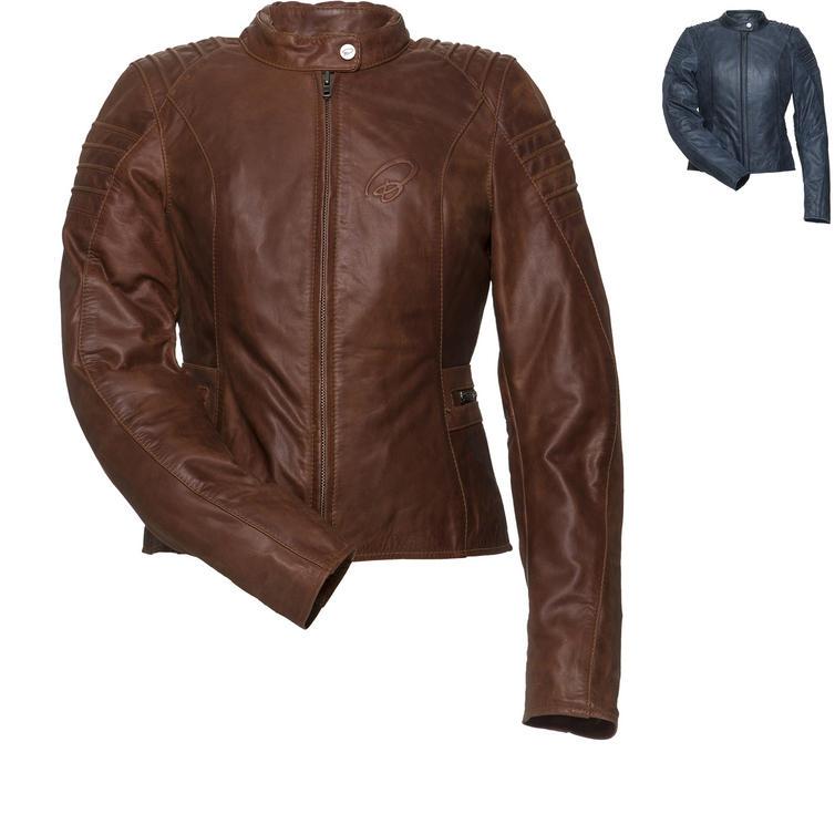 Black Artemis Ladies Leather Motorcycle Jacket