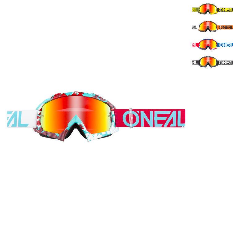 Oneal B-10 Pixel Radium Motocross Goggles