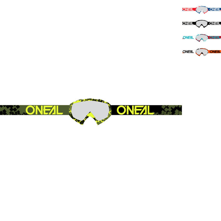 Oneal B-10 Pixel Clear Motocross Goggles