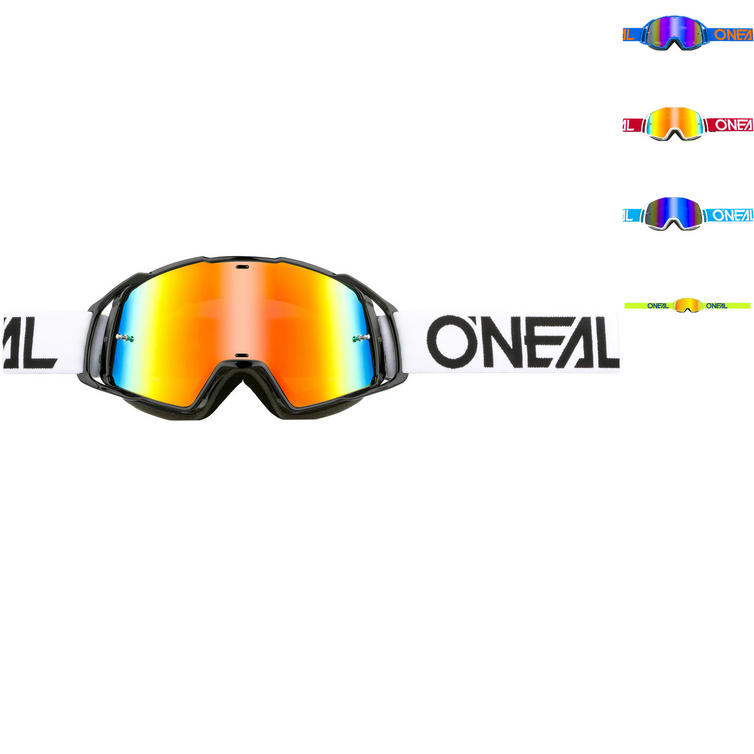 Oneal B-20 Flat Radium Motocross Goggles
