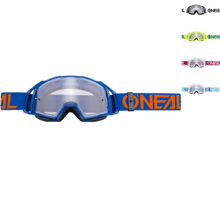 Oneal B-20 Flat Clear Motocross Goggles
