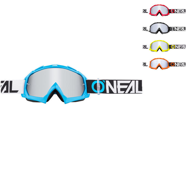 Oneal B-10 Two Face Mirror Silver Motocross Goggles