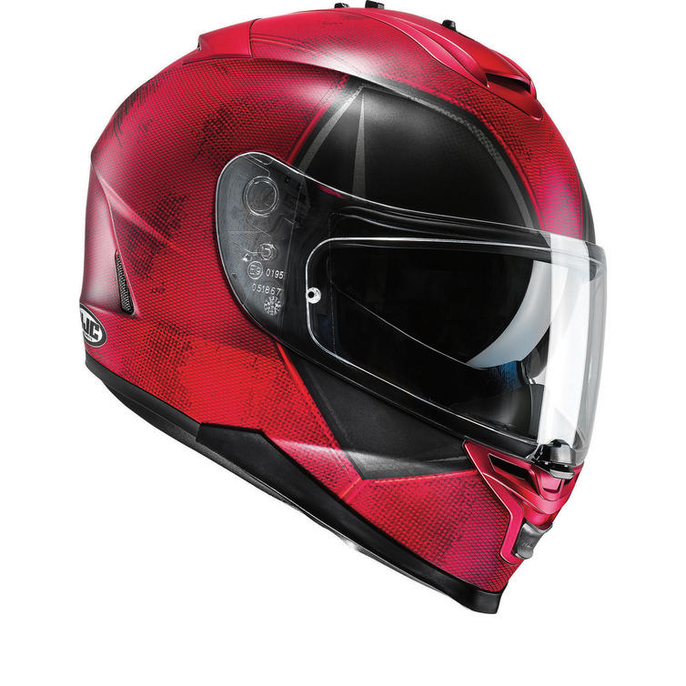 HJC IS-17 Deadpool Motorcycle Helmet