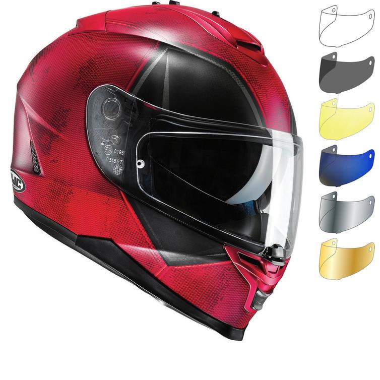 HJC IS-17 Deadpool Motorcycle Helmet & Visor