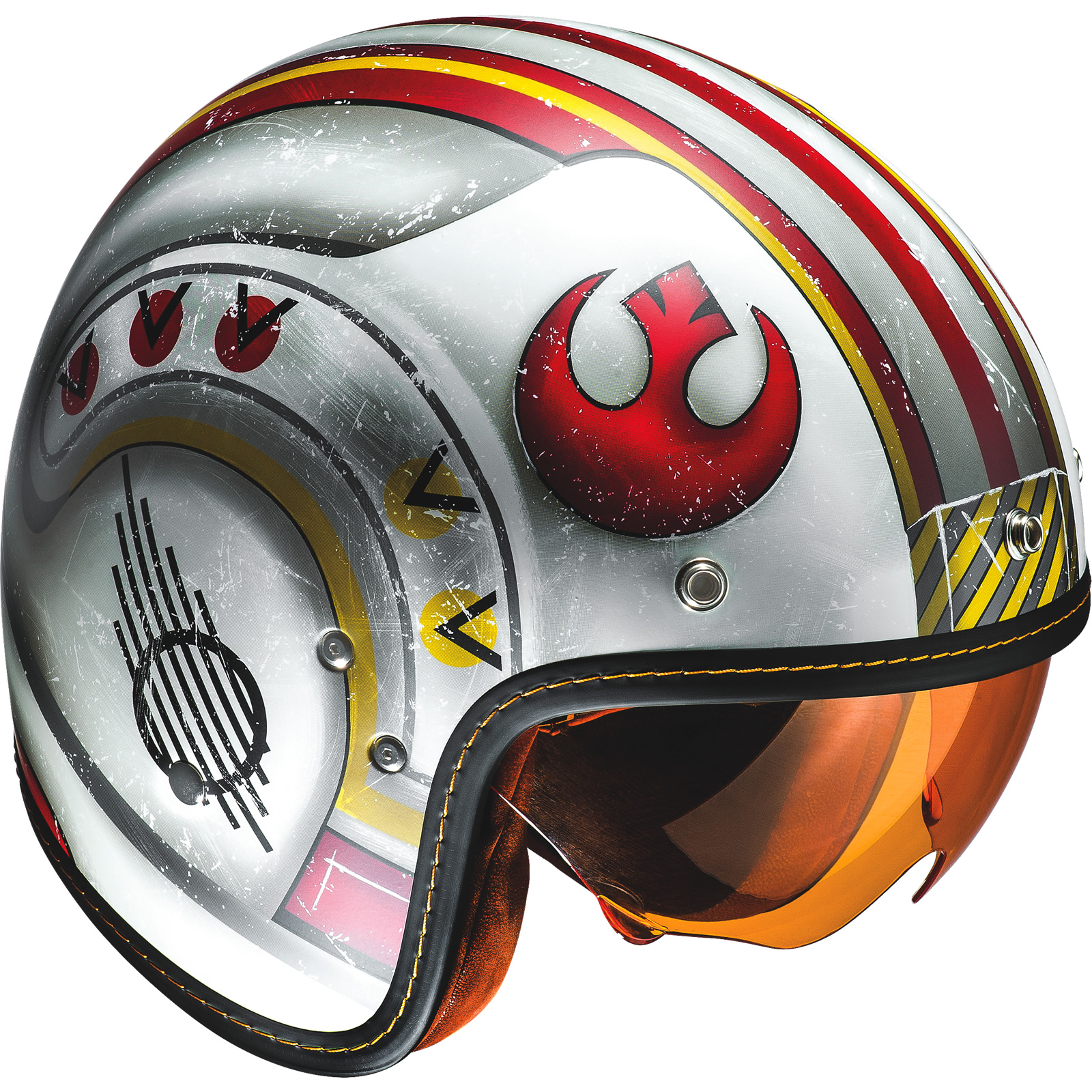 hjc fg 70s x wing fighter pilot open face motorcycle helmet star wars jet urban ebay. Black Bedroom Furniture Sets. Home Design Ideas